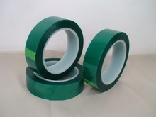 High Temperature PET Silicone Green Tape for PCB Solder Mask