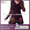 personalizado algodão de malha pullover vestido das mulheres