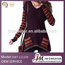 custom cotton knit pullover women's dress
