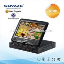 Full HD Digital Zoom 8ch Recording Network Mobile Phone Surveillance Camera VGA Email Alarm CCTV Camera Video Player LCD DVR