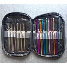 pu crochet hook set storage bag , pu knitting needles bag