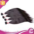 Venta al por mayor del pelo recto sedoso, 100% virgen remy del pelo humano de extensión, brasileño pelo aliexpress