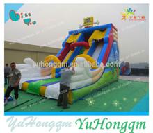 2015 new cute inflatable slide, sponge bob slide inflatables for kids