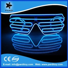 Hot lighting in the dark el wire equalizer glowing glasses
