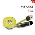 cor 2 em 1 micro cabo usb