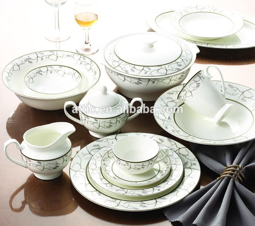 98 stück luxus fine bone china dubai geschirrset für 12  ~ Geschirr China