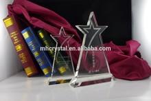 Achievement Crystal Star Award Plaque MH-J0664