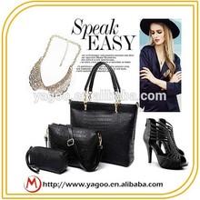 2015 New Fashion Professional Croco PU lady handbag
