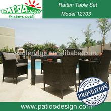 tavolo da giardino in rattan da pranzo denzo set 6 persone mobili da esterno