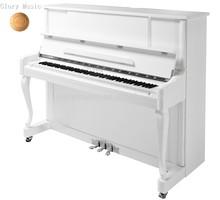 White Vertical Upright Piano HU-123W white