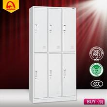 European style cheap wardrobe metal 6 door clothes locker beauty salon furniture