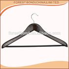 Brand Deluxe Wooden Coat Hanger With Antiskid Plastics Tube