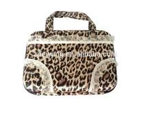 Lace leopard print travel bra panty bag