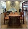 Naturelles acajou, salle à manger table et chaise fixe