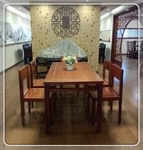 natural mahogany dining room table and chair sets