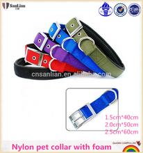 Comfortable hot sale nylon dog collars with foam
