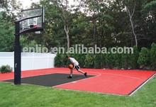 Residential backyard vinyl basketball floor