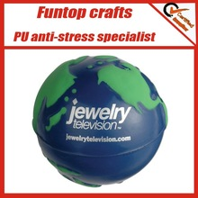 Cheap promotional giveaways earth stress ball for brand promotion