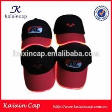custom made optical fiber light glowing cap led light hat sports cap