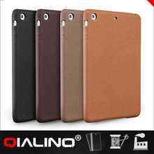 QIALINO Wholesale Triangle Fold Leather Case For Ipad Mini