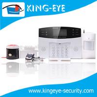 GSM network home smart alarm, alarmanlage with outdoor wirelesss flashing siren