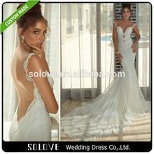 Galia Lahav Lace Open Back Sexy Mermaid Wedding Dress 2015