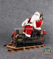 Train sitting santa
