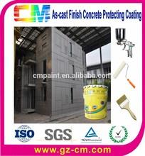 Fabricante de construção pintura impermeável ao ar livre externo concret muro de proteção revestimento decorativo
