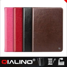 QIALINO Factory Supply Custom Logo Slim Leather Case For Ipad Mini