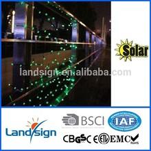 Cixi Landsign solar string lights series 4.5m 30 leds led string lights rgb dmx for holiday/garden decoration
