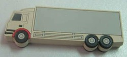 4GB usb drive truck shape with PVC material and white color