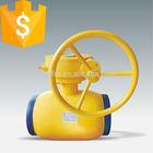 Worm gear standard natural gas ball valve,one way gas valve