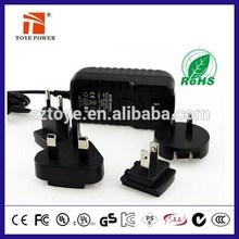 Universal ac dc multi plug adaptor 12v 1a power adapter for RGB LED modules