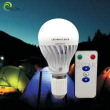 Remote control led bulb rechargeable light e26/e27 base more functions as a torch 7w ,led rechargeable bulb remote control