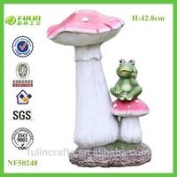Resin Garden Christmas Mushroom for Mushroom Christmas Decor