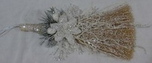 fashionable natural material chiristmas besom with ornament