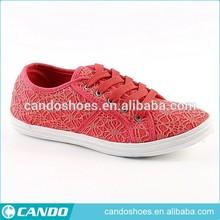 latest women fashion canvas shoes lady shoe