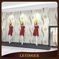الضوء الأخضر levinger مخطط زهرة ورق الحائط التلفزيون جدار