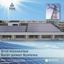 1kw 2kw 5kw 8kw 10 kw 20kw 100kw 1mw on-Grid tied Solar panel System