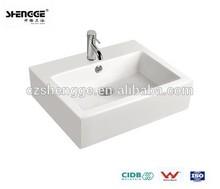 economical ceramic different wash hand basin sizes