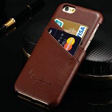 Retro suede genuine leather case for iphone6 / dermis for iphone 6 leather wallet case / real leather funky mobile phone case