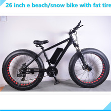 Manufacturer direct selling 26 inch 350W/500W fat e bike and snow e bike with oil spring front fork with adjustable dead lock