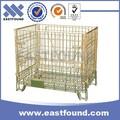 pallet in acciaio saldati stoccaggio pieghevole di alta qualità gabbie di rete metallica