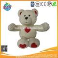 Doux en peluche ours en peluche avec le coeur l'amour joli cadeau de nouveaux jouets!