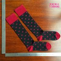 ZhuJi China Hot Sale Wholesale OEM Service Cotton Fashion Sex Cotton Dots Girls Tube Sock