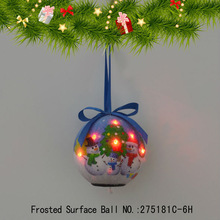 Three Snowmen Flash LED Light Ball Christmas Tree Decoration Hanging Ball