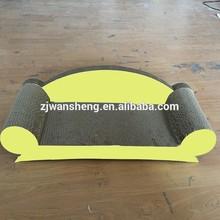2014 Hot Selling Cheap Corrugated Cardboard Cat Scratcher with Catnip sleeping cat toy