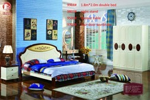 Chinese functional and cheap1.8m modern bed/ single bed/wood bed