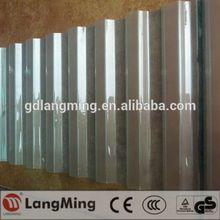 Chine fabrication de prix hot vente polycarbonate tôle ondulée bleu