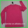 2015 novo design cor rosa números para a camisa de futebol